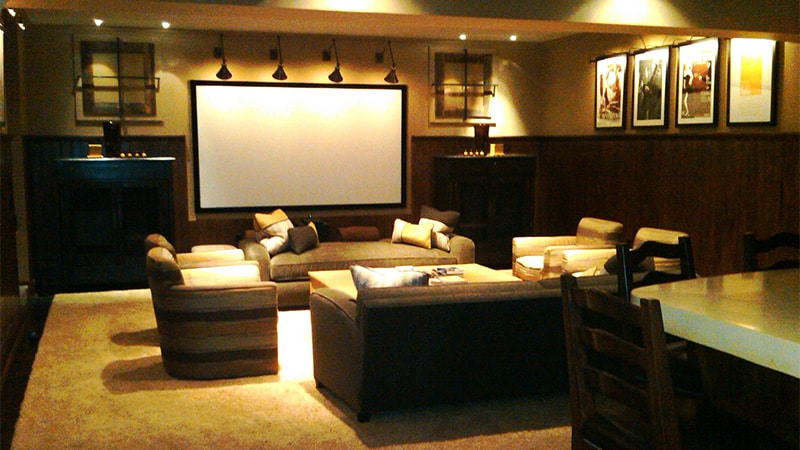 custom home theater. Black Bedroom Furniture Sets. Home Design Ideas