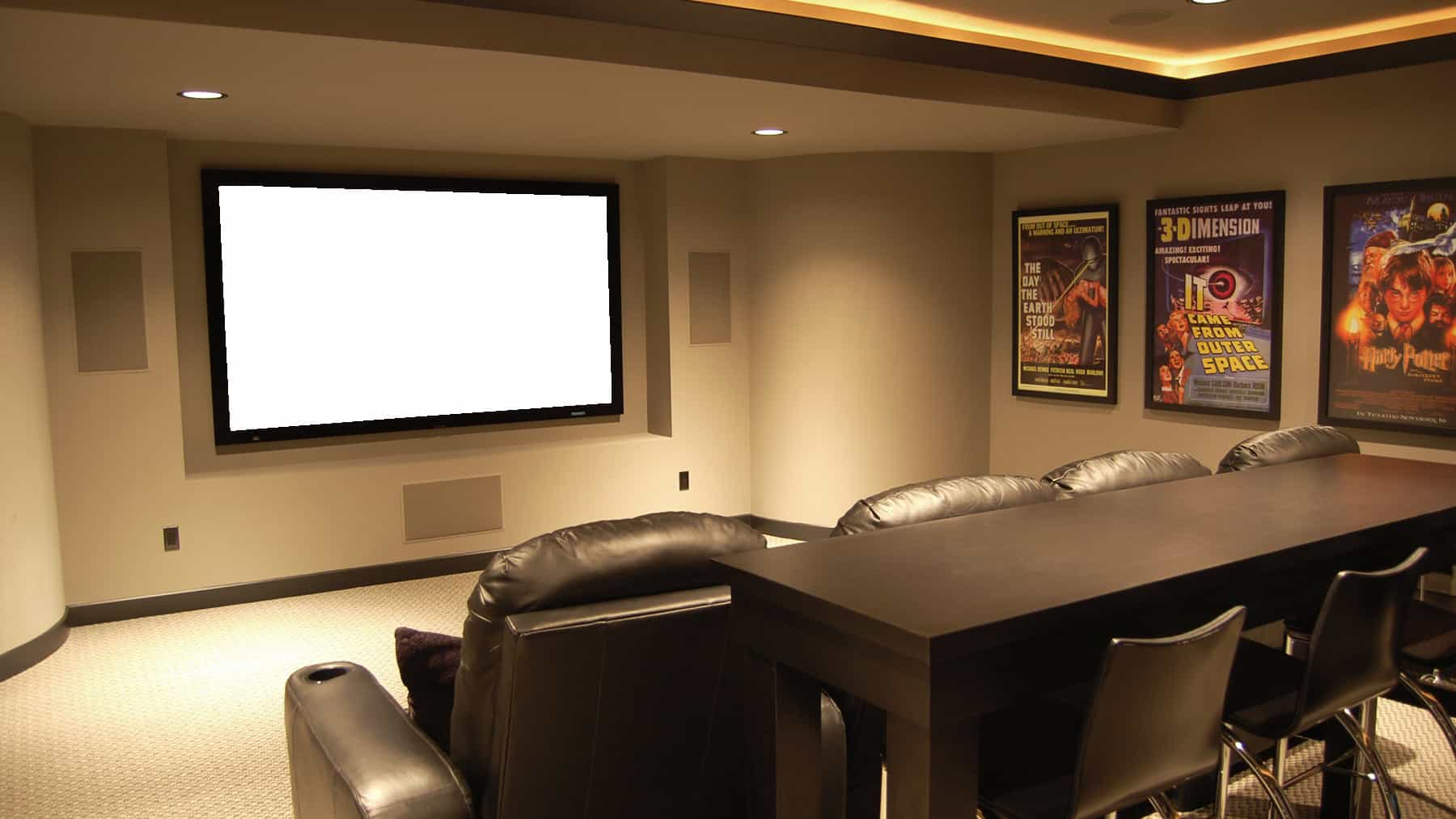 Media rooms home theater for House plans with media room